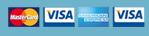 We accept Mastercard, Visa, American Express and Visa