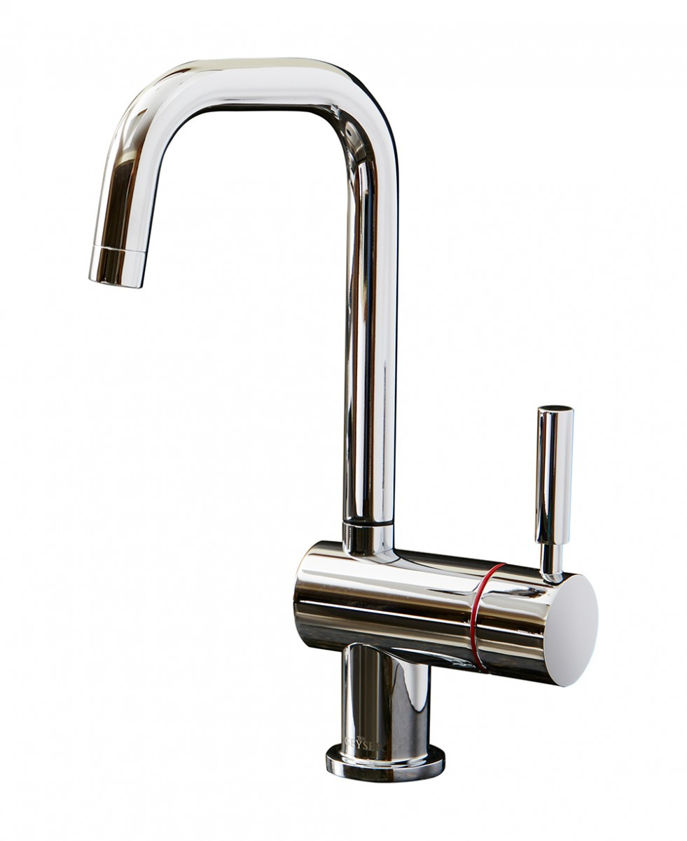 Geyser Single Lever Hot Tap U Spout Chrome
