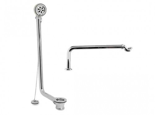 Freestanding Bath Pack chrome plated brass