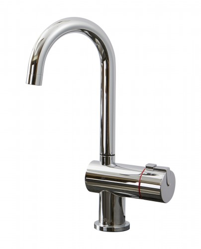 Geyser Single Hot Tap J Spout Chrome