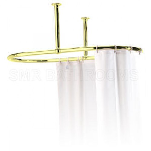 Large Brass Oval Ceiling Rail in High Quality Polished Brass