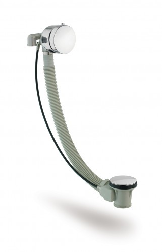 Rimini Range Quality Bath Overflow Filler/Exofill/Exafill with Pop Up Waste