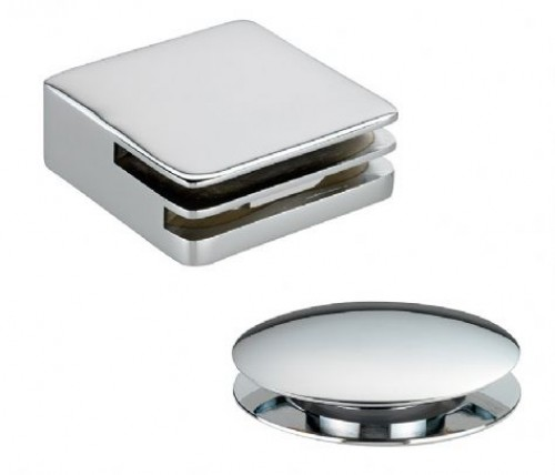 Square Bath Clicker Waste and Overflow Filler