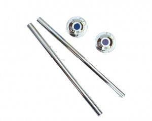 300mm Radiator Valve Extention Tube and Flange Kit in Chrome (pair).