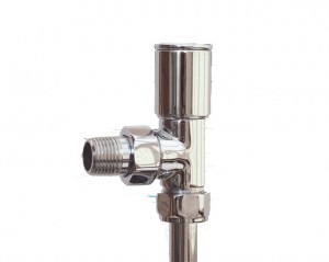 Minimal Angled Radiator Valves Pair in Chrome