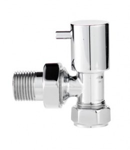Economy Angled Radiator Valves Pair in Chrome