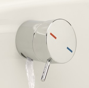 Bath Overflow Filler with Integral On Off control