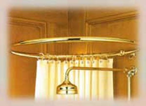 Circular Shower Curtain Rail 1000mm in Brass/Gold