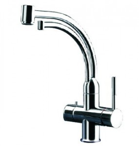 Gessi Kitchen Mixer with Filtered Cold Water spout in Polished Chrome