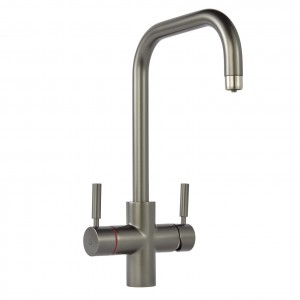 Geyser 3 in 1 Graphite Instant Hot Water Tap U Spout
