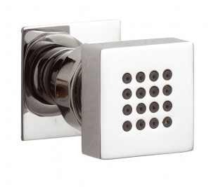 Square Wall Mounted Shower Body Jet in Solid Chrome