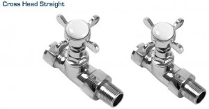 Traditional Straight Radiator Valves in Chrome Plated Brass